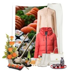 """""""sushi or puffer jacket"""" by sil-engler ❤ liked on Polyvore featuring Roland Mouret, Helmut Lang, Loveless, Sarah Jessica Parker, Dolce&Gabbana, New Look and Givenchy"""