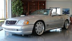 Supercharged 2000 Mercedes-Benz SL500 for sale on BaT Auctions - sold for $18,500 on March 10, 2017 (Lot #3,436) | Bring a Trailer Mercedes Benz Sl500, Mercedes 500sl, Classic Mercedes, Nissan Gt, Nissan 370z, Tsw Wheels, Drag Racing, F1 Racing, Honda S
