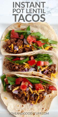 Vegan Recipes Easy, Veggie Recipes, Whole Food Recipes, Vegetarian Recipes, Cooking Recipes, Healthy Lentil Recipes, Lentil Meals, Chicken Recipes, Chili Recipes
