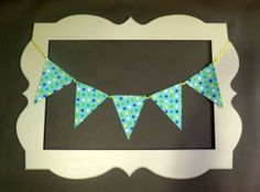 Mix and match blue dots fabric flag banner. by ThePartyOrchard, $30.00