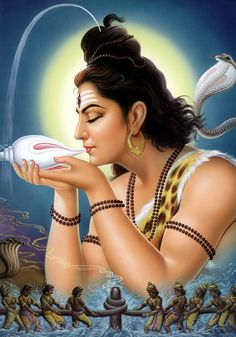 Shiva consuming poison to save the world from annihilation. my Shiva