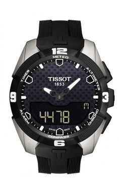 TISSOT T-TOUCH EXPERT SOLAR  The T-Touch Expert Solar is an important new model in the Tissot range. Tissot's pioneering spirit is what led to the creation of tactile watches in 1999. Today, it is the first to present a touch-screen watch powered by solar energy, confirming its position as leader in tactile technology in watchmaking. Extremely well designed, it showcases clean lines in both sports and timeless pieces. Powered by solar energy with 25 features including weather forecasting…