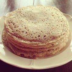 Boekweitpannenkoek Healthy Recipes, Healthy Food, Pancakes, Bread, Breakfast, Water, Healthy Foods, Morning Coffee, Gripe Water