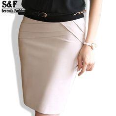 f864f52e5d Skirts 2016 Autumn Winter Women Skirts Office Formal Pencil Skirts Casual  Sexy Slim High Waist Knee-Length Midi Skirt Saia Plus Size