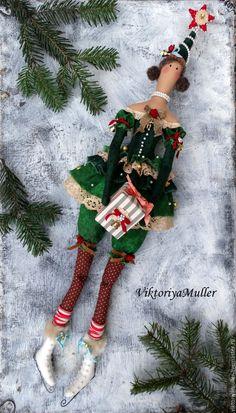 Купить кукла тильда ручной работы ЁЛОЧКА - зеленый, кукла тильда купить, новый год 2016