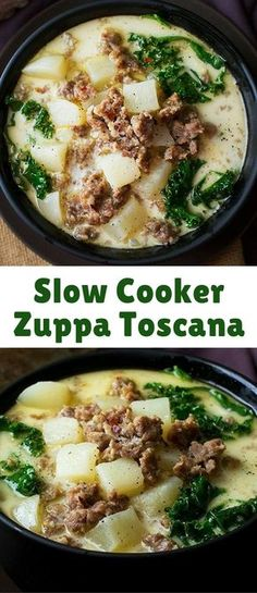 The classic zuppa toscana soup, in slow cooker form! It tastes WAY better than Olive Garden's, and is sure to be a crowd pleaser!