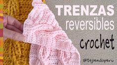 Adaptamos la técnica de tejer trenzas reversible en dos agujas o palitos a CROCHET y quedaron preciosas  Usamos esto puntos del tejido a crochet: cadena, me...