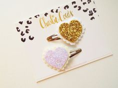 Hey, I found this really awesome Etsy listing at https://www.etsy.com/listing/207479590/glitter-heart-hair-clips-babygirls-white