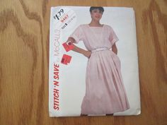 McCalls UNCUT Sewing Pattern Stitch N Save 9467 for Misses Top and Skirt size 12-14-16. All options for this pattern require 2.5 yards or