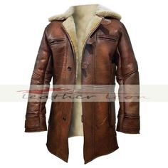 Dark Knight Rises Bane Real Shearling Genuine Leather Trench Coat / Jacket in Clothing, Shoes & Accessories, Men's Clothing, Coats & Jackets | eBay
