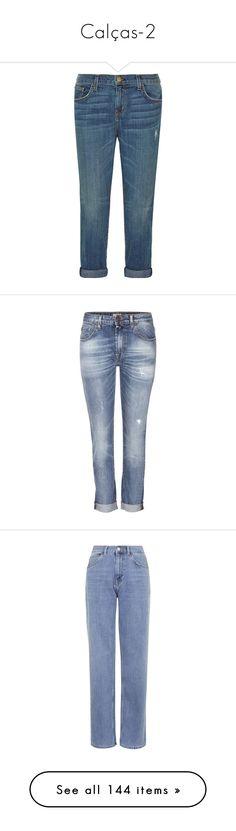 """Calças-2"" by megeller ❤ liked on Polyvore featuring jeans, pants, jeans & pants, blue, super skinny jeans, current elliott boyfriend jeans, slim skinny jeans, skinny boyfriend jeans, blue jeans and boyfriend jeans"
