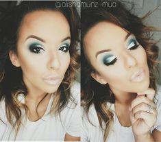 #teal #blue #eyeshadow #smokeyeye #makeup #makeupartist #mua #motd #wakeupandmakeup #glam #maccosmetics #anastasiabeverlyhills