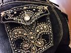 NWT's Miss Earl Jean Size 14 Sexy Bling Me Western  Embellished Capris-NWT's