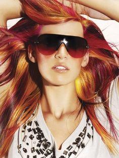 Multi Colored Hair Highlights | scene hair color lucie doughty thumb Bold Hair Highlights Ideas