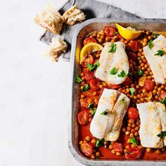 One-pot paprika cod and chickpeas