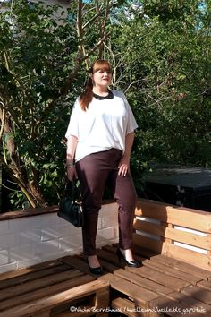 Hülle & Fülle Plus Size Fashion Blog: Hello Fall Look, OOTD, OOTN, leather pants