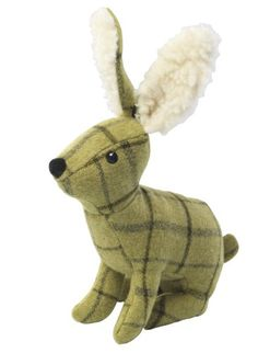 House of Paws Tweed Plush Hare Dog Toy Green *** Continue to the product at the image link.