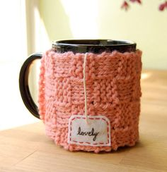 """Lovely"" & ""tea me"" mug sweaters"
