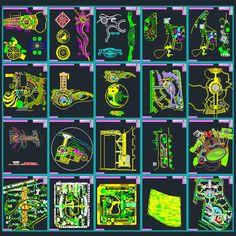 Landscape Design Collection Designs Symbols And Details For Landscaping AutoCad DWG File