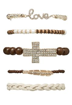 Love and Cross Bracelet Set available at #Maurices $14
