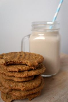 Vegan & Gluten Free Chewy Peanut Butter Cookies with a secret ingredient- chickpeas!