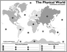 World map worlds continents oceans mapping activity pinterest printables continents and oceans of the world worksheet continents and oceans of the world worksheet hypeelite worksheets mreichert kids worksheets gumiabroncs Image collections