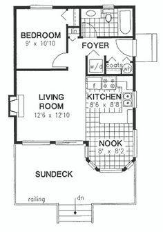 16x30 1 bedroom house -- #16x30h1 -- 480 sq ft - excellent floor
