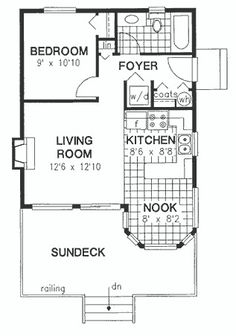 16x30 1 bedroom house -- #16x30h1 -- 480 sq ft - excellent floor