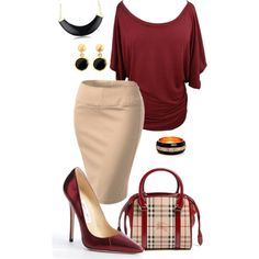 """Pencil skirt- plus size"" by gchamama on Polyvore"