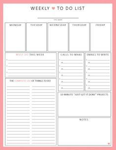 *INSTANT DOWNLOAD* PRINTable - no physical product will be mailed. If you dont need a full-version planner, but still want to get organized