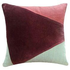 Pieced Decorative Pillow Purple (18