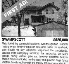 This ad that doubles as avant-garde poetry. | 24 Real Estate Ads That Totally Nailed It
