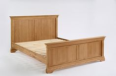Normandy Oak 5' Bed  is an elegant French styled collection crafted from carefully selected solid oak and oak veneers. #Furniture #Bedroom #BedroomFurniture #PriceCrashFurniture #Normandy #Bed #Oak http://pricecrashfurniture.co.uk/normandy-oak-5-bed.html