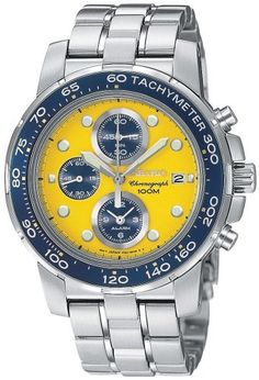 Seiko Mens SNAB61 Alarm Chronograph SilverTone Watch -- You can find more  details by visiting 6f8d0fcd83