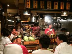 "Izakaya - While visiting my daughter, then an exchange student in Japan, she shared with me many of her daily life activities. She took me to this izakaya - a place for casual drinking and eating after work - in Shinjuku, Tokyo, where we had Umeshu (Japanese plum wine) and many local snacks.The place was full of laughter from ""salary men"", as the Japanese call company employees, relaxing and bantering with the cook and waiters while getting red cheeks from drinking beer and sake."