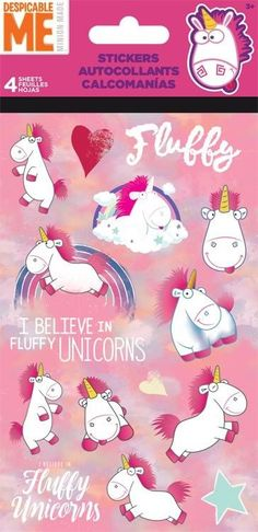 4 Sheets Fairy Tale Mystical Magic Unicorn Stickers Party Favors Teacher Supply | eBay