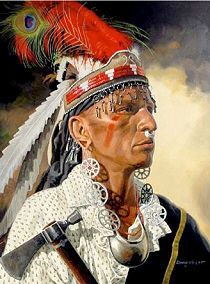 """Robert Benge was born in 1760 probably in the Cherokee village Toquo to John Benge and Wurteh, a Cherokee. He was known as """"Dragging Canoe""""."""