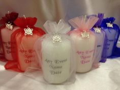 Personalised favour candle silver butterfly any event many colours in home, furniture & diy, wedding supplies, wedding favours Wedding Favours Fudge, Wedding Favors For Men, Popcorn Wedding Favors, Winter Wedding Favors, Candle Wedding Favors, Candle Favors, Wedding Gifts For Guests, Rustic Wedding Favors, Wedding Crafts