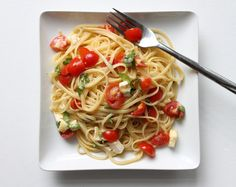 That's so Michelle...: Pasta with Fresh Basil, Cherry Tomatoes and Brie Cheese