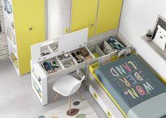Folding Furniture, Space Saving Furniture, Kids Furniture, Kids Bedroom Designs, Home Room Design, Home Interior Design, Small Room Bedroom, Home Bedroom, Bedroom Decor