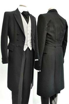 Men's Modern Black Wool Formal Wedding Frock Coat 36-38 Mens Modern Formal Occasion Wear Wedding Frock Coat - £58.00 : http://www.vampalicious.co.uk