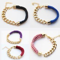 Woven Gold Chain Bracelets