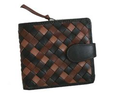 Genuine Leather Women Woven French Style Wallet in Combination Colors ** Check this awesome product by going to the link at the image. Wallets For Girls, Wallet Chain, Louis Vuitton Damier, Black And Brown, Combination Colors, Fashion Vintage, Women's Fashion, Coin Purse, Women Jewelry