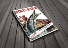 Party Guest Book - Sports Afield Fishing Cover Art - Fishing Themed Party - Fishing Gift For Him - Retirement Party Gift - Fishing Life by AdirondackRetro on Etsy