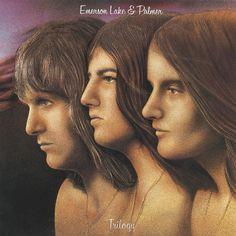 ELP - Trilogy Rock Album Covers, Classic Album Covers, Music Album Covers, Music Albums, Music Music, Vinyl Music, Music Files, Storm Thorgerson, Progressive Rock
