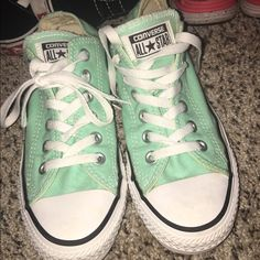 72f75d9d2568 Shop Women s Converse size 7 Sneakers at a discounted price at Poshmark.  Description  mint colored converse barely ever worn in great condition.