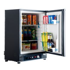 Smad 2.1 cu ft Mini Nevera Nevera De Gas Portátil 220 V/110 V 12 V Eléctrico de Absorción de Propano Reversible Hotel puerta de Refrigerador