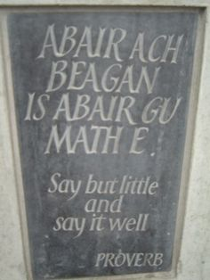 One of my favorite Scottish Proverbs
