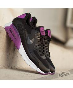 d97b1f58e10 Nike Air Max 90 Ultra Essential Black Purple Shoes Sale
