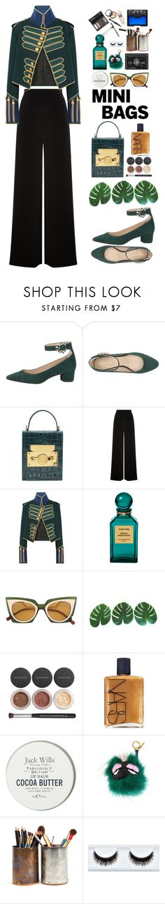 """Marching Band"" by finding-0riginality ❤ liked on Polyvore featuring Nine West, Subella London, Roland Mouret, Burberry, Tom Ford, Fendi, Bare Escentuals, NARS Cosmetics, Jack Wills and Borghese"
